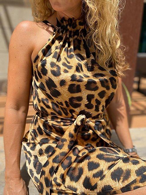 Leo tie kjole