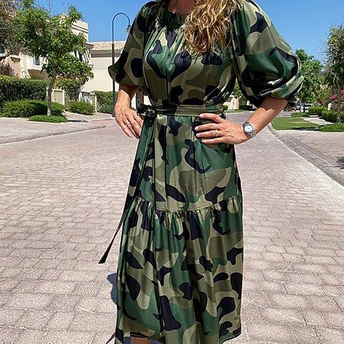 Elisabeth camo dress