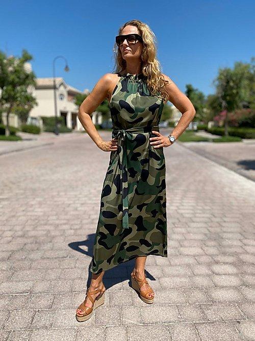 Camo kjole