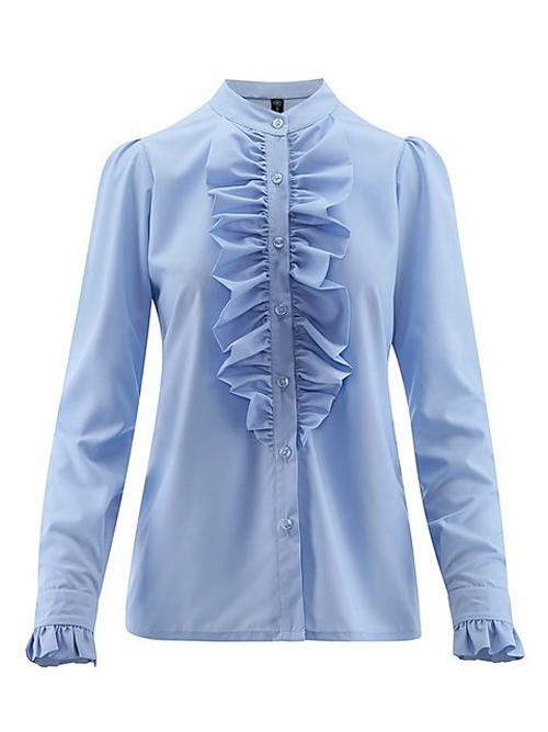 Anne ruffle skjorte