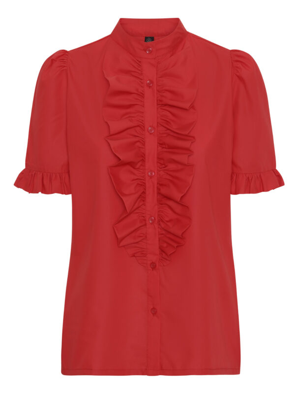 The Queen Ruffle Junior Red