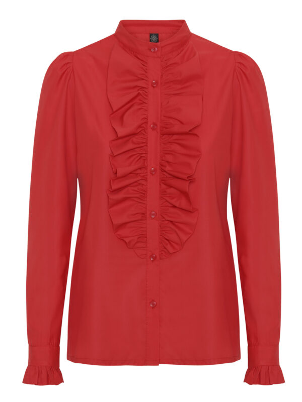 The Queen Ruffle Red