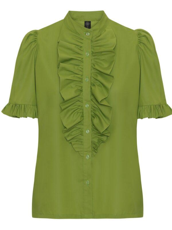The Queen Ruffle Junior Tropical Green