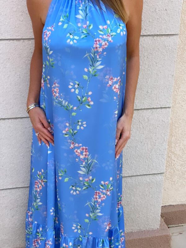 Blue Bloom Tie Dress