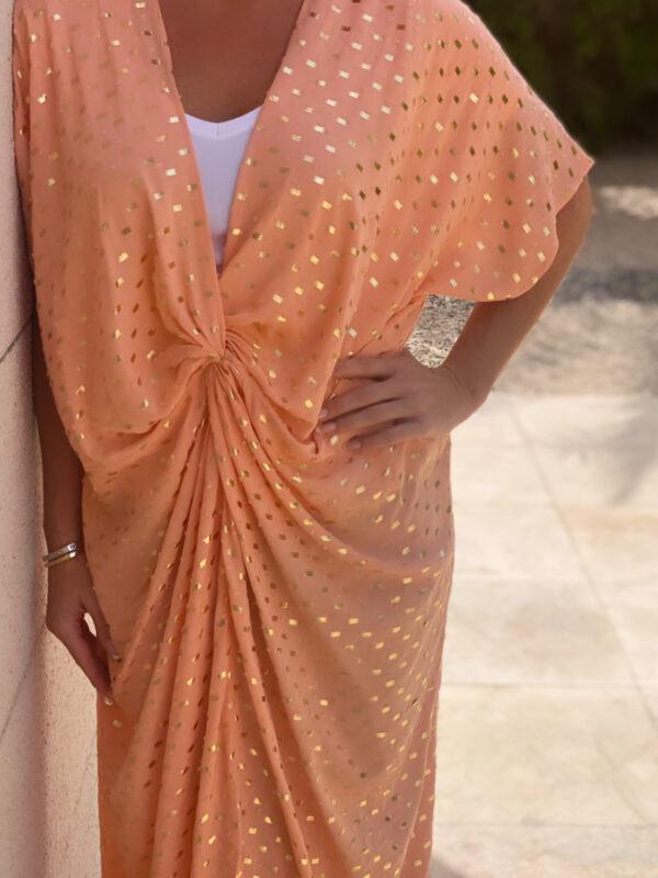 Afrodite Knot Dress Peach