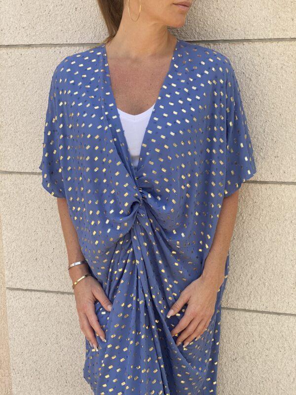 Afrodite Knot Dress Blue