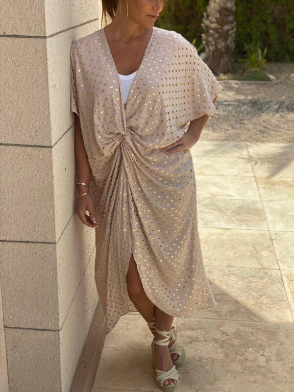 Afrodite Knot Dress Sand